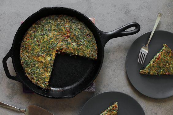کوکو سبزی با خردکن مولینکس