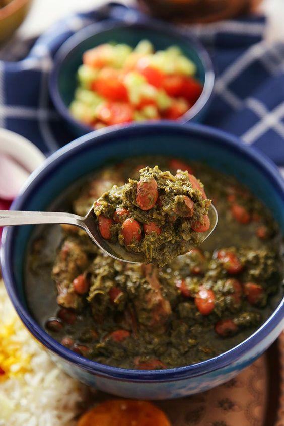 قورمه سبزی با غذاساز مولینکس