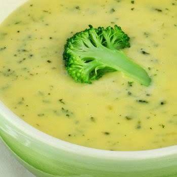 سوپ بروکلی و سیب زمینی با خردکن مولینکس