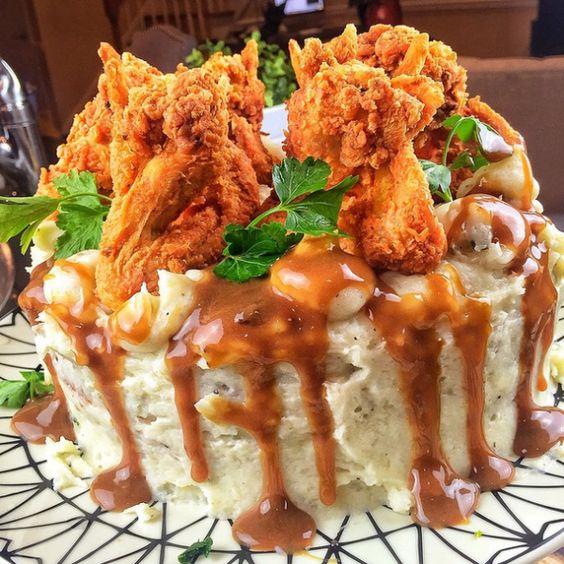 کیک مرغ با خردکن مولینکس