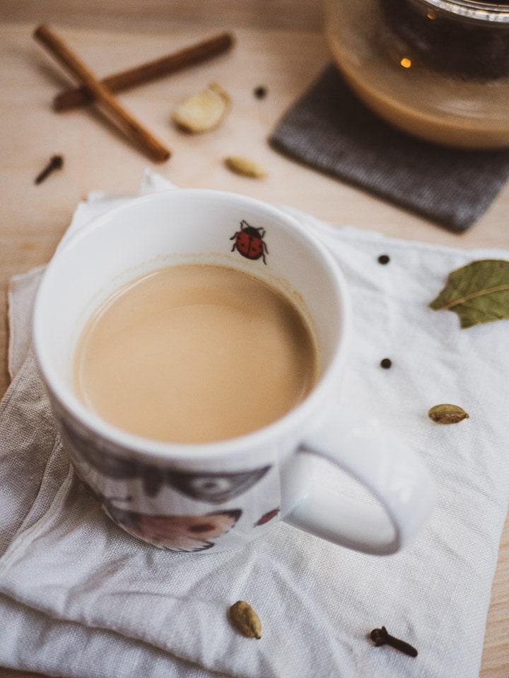چای ماسالا  با غذاساز مولینکس