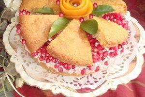 کیک انار با همزن مولینکس