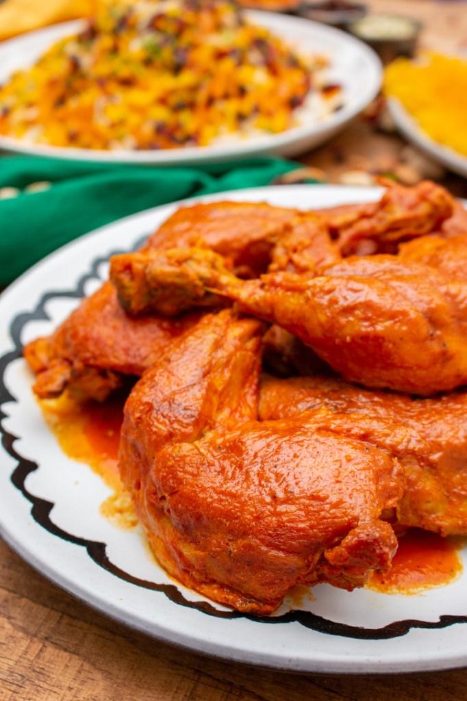 خورش مرغ و آلو با خردکن مولینکس