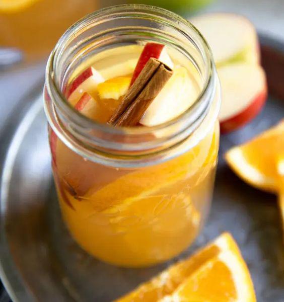 آبمیوه سیب و پرتقال با تک الکتریک