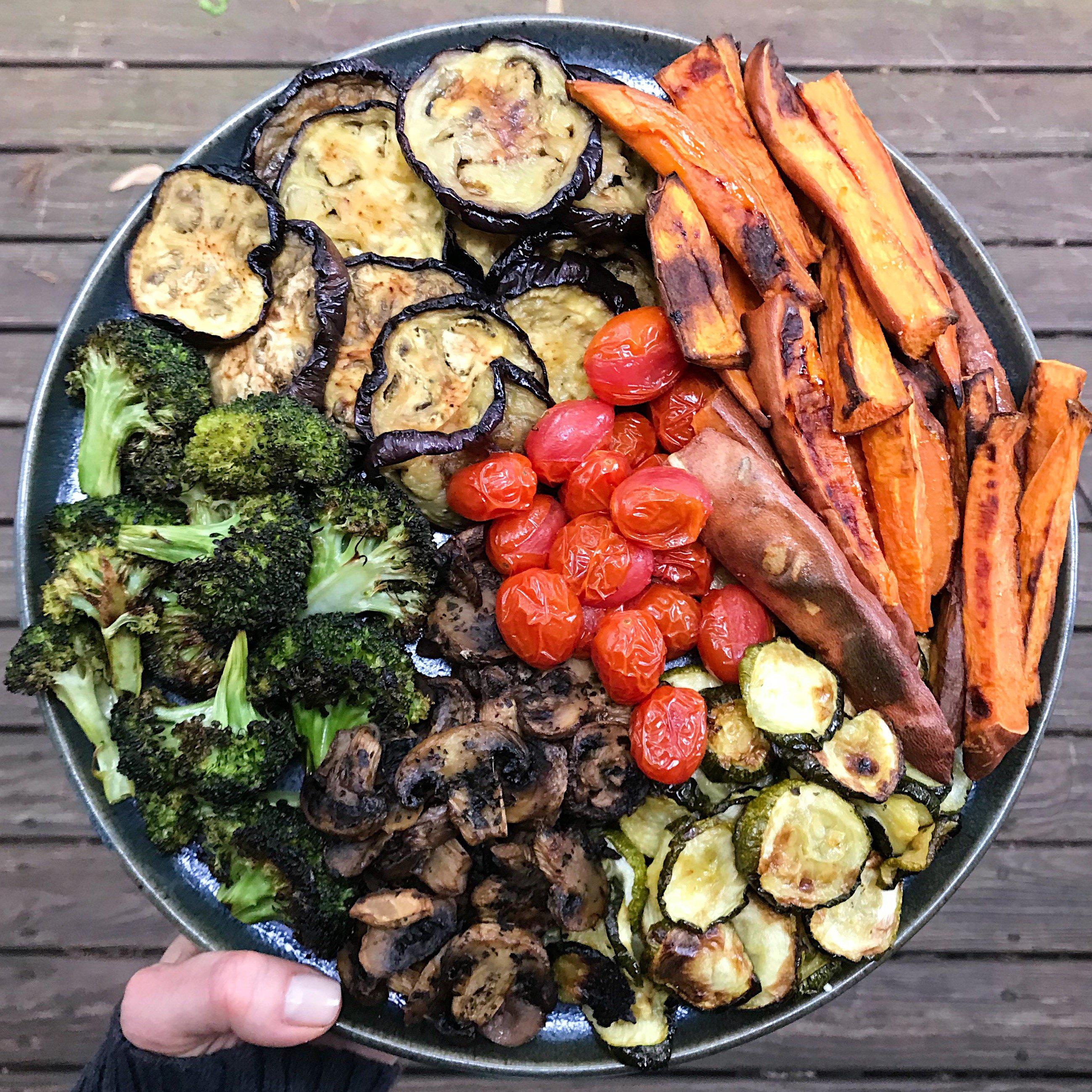 بشقاب سبزیجات با غذاساز مولینکس