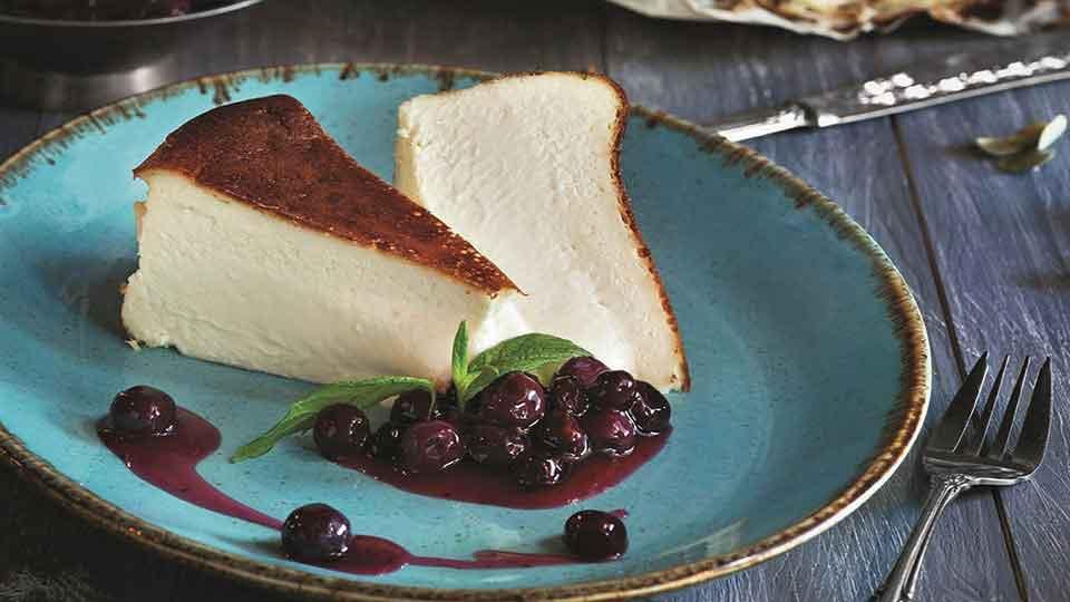 چیز کیک سن سباستین با همزن کاسه دار مولینکس