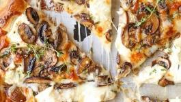 پیتزا قارچ و گوشت با چرخ گوشت مولینکس