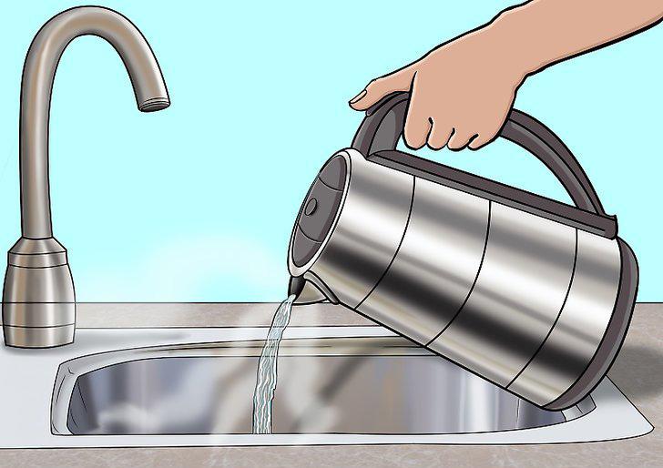 مرحله آخر تمیز کردن کتری برقی