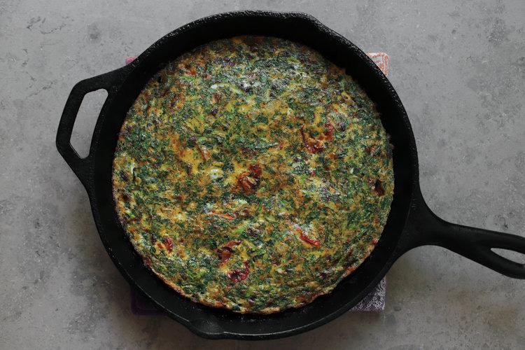 آماده شدن کوکو سبزی